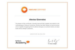 inbound marketing certified professional